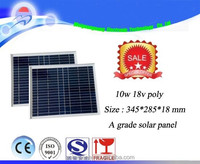 10W 18V monocrystalline solar panel / solar module for charging 12V battery used for home/ lighting /camping