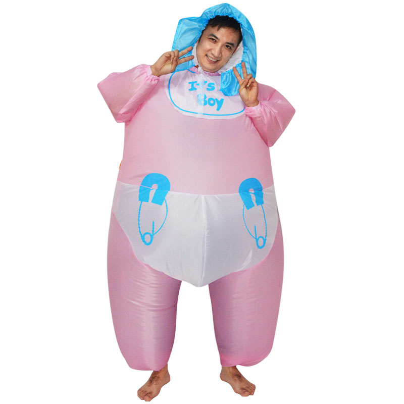 Adult Funny Pretend Play Infant Baby Diaper Inflatable Costume