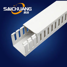 Durable covered cable trays solid wall wiring duct