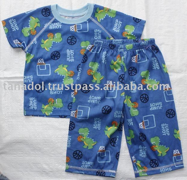 Sell Boys 2pcs night set - short slv top + elasticated pants,children clothing,children wear,kid clothes