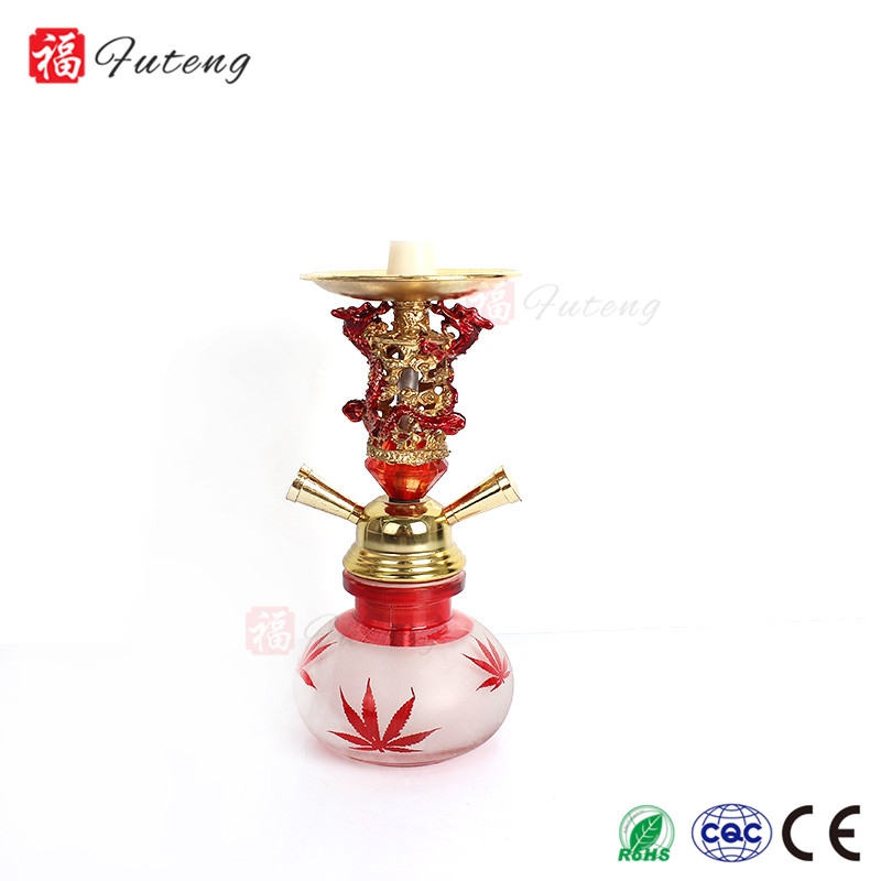 FT15 Futeng Wholesale Hookah Shisha Narghile Factory Two Silicone Hose Dragon