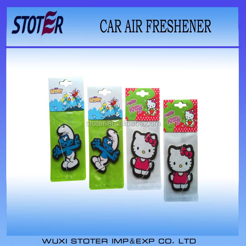 Wholesale cheap custom hanging paper car air freshener