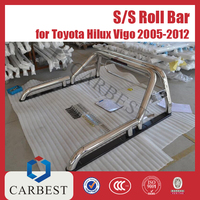 HIGH QUALITY STAINLESS STEEL UNIVERSAL ROLL BAR WITH GLASS PROTECTOR FOR TOYOTA HILUX VIGO 2012