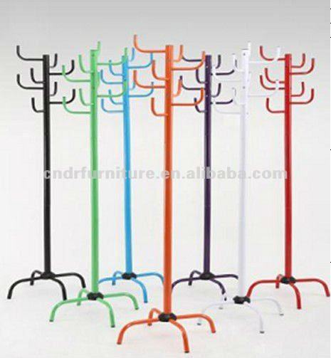 Home Furniture-Colorful Metal Standing Coat Rack
