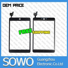Hot selling for ipad mini 3 lcd screen front glass, for ipad mini 3 touch screen replacement