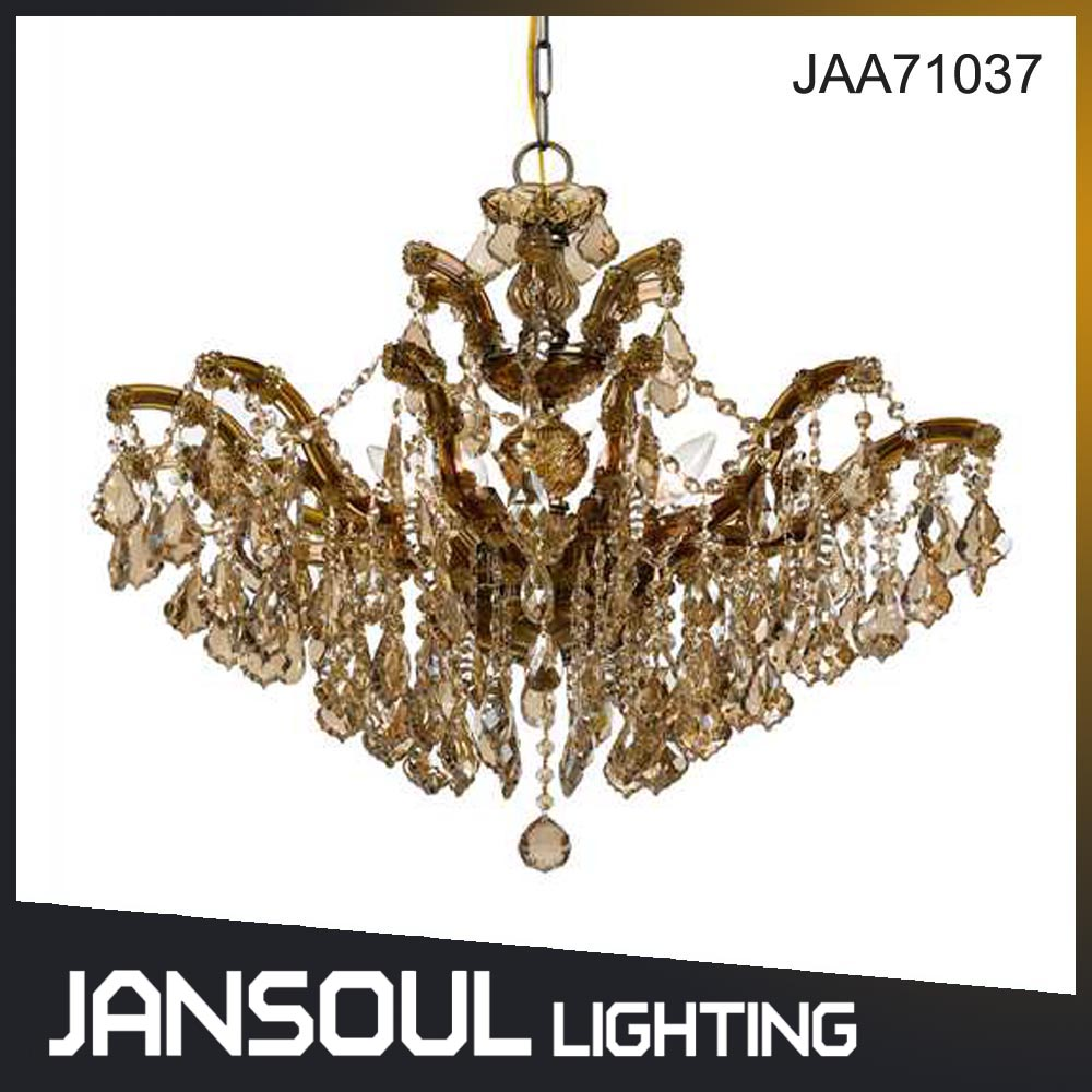 Jansoul elegant butterfly shape golden crystal chandelier pendant light for villa living room or