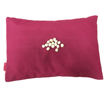 plain cotton canvas cherry seed cherry pits pillow