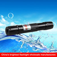 aircraft aluminium green led laser flashlight