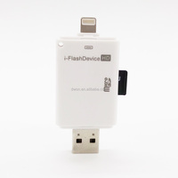 usb 2.0 all in 1 card reader i-FlashDrive Ideal For Adding Extra Storage For iPhone6 6Plus iPad5 Air Mini2