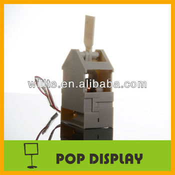 Pvc shelf wobbler for advertising and display