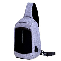 2017 new style Anti theft man chest bag crossbody women sling waterproof bag with usb charging port
