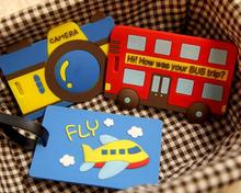 pvc travel 3d luggage tag wholesale