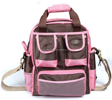 Unique Multifunction Waterproof Nylon Large Capacity Baby Diaper Bags Mommy Backpack Shoulder Bag with 16 Pockets