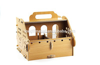 Luxury and fashionable portable hamster wooden house/pet wooden house/pet cages for hotsale