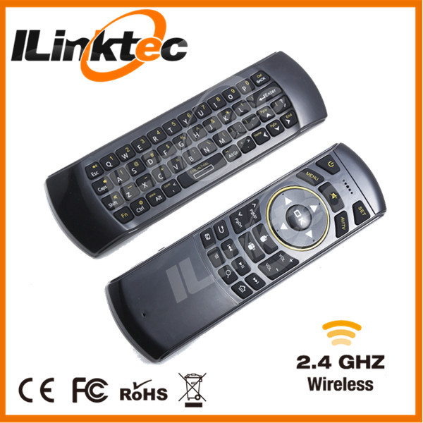 2015 HOT keyboard with speaker and microphone fly air mouse wireless keyboard with IR remote keyboard