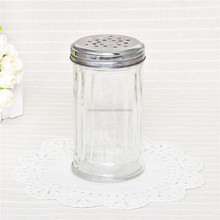 kitchen custom use glass salt and pepper spice jar clear toothpick tank with metal lid for hotel decoration