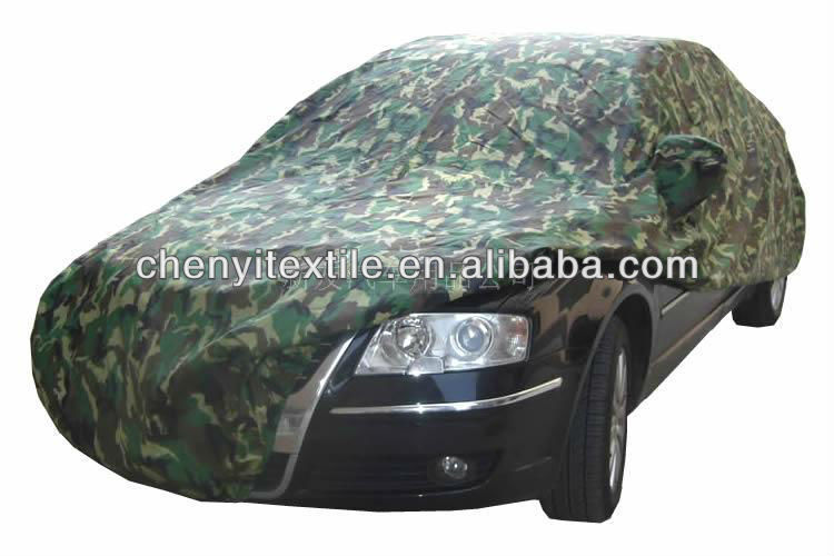China Textile waterproof camo fabric car cover