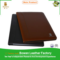 dogguan factory produce leather art portfolio case