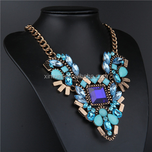 Factory newest design luxury fashion necklace costume jewellery