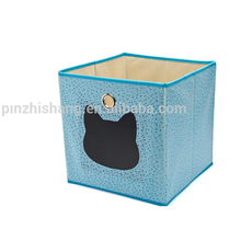 SGS Folding Storage Box Foldable cloth fabric carton storage bin collapsible toy storage organizer box cube