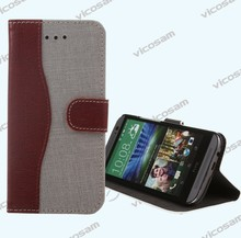 Flip Cell Phone PU Leather Cover For HTC One M8 Case leather flip cover case for smartphone