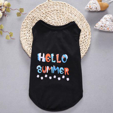 2017 New Fashion Summer Pet Sports Shirts Dog Apparel Clothes With Letters
