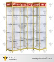 Good quality transparent glass perfume display stand rack