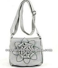 Lady fashion handbag/shoulder bag with flower design