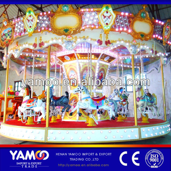 Express Alibaba Attraction Luxury Colorful Park and Rides Kitchen Carousel for Sale