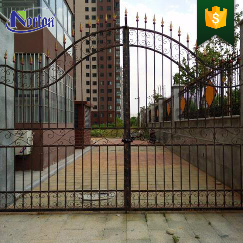 ornament steel fence part / iron main gate design / wrought iron NT-WI053D
