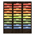 30 Pocket Storage Pocket Chart, Hanging Wall File Organizer