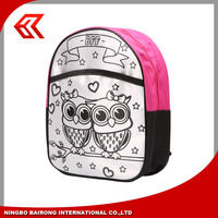 Wholesale Customized Design DIY Backpack Type Child School Bag