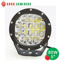 2016 New High power round 4x4 offroad 5inch 80w led work light