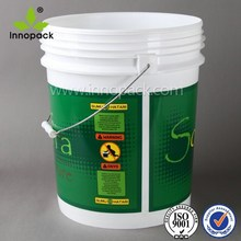 5 gallon eco-friendly printed PP Plastic pails with handles for oil wholesale