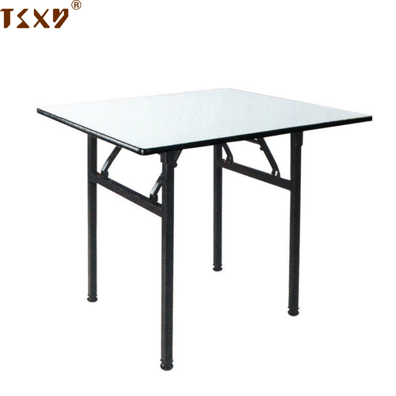 Simple strong steel square folding table