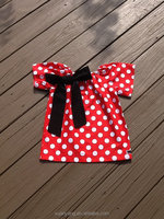 Manufacture wholesale kid summer clothes high quality girl polka dot top