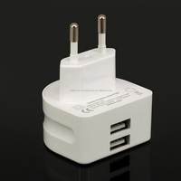 cell phone charger Super Fast 5V 2.1A EU 2 USB Port Micro USB Charger Wall Plug Power Adapter for iPhone Samsung Tablet