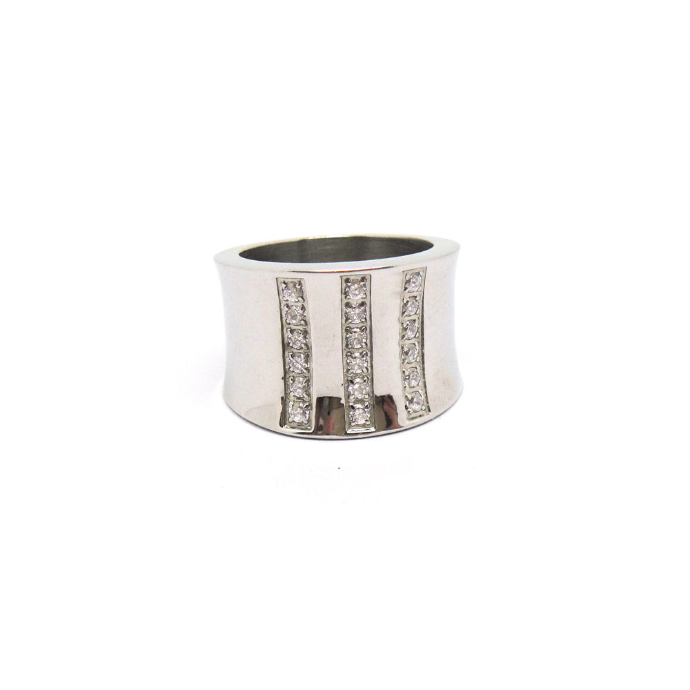Fashionable 316l surgical stainless steel ladies' finger ring wholesale