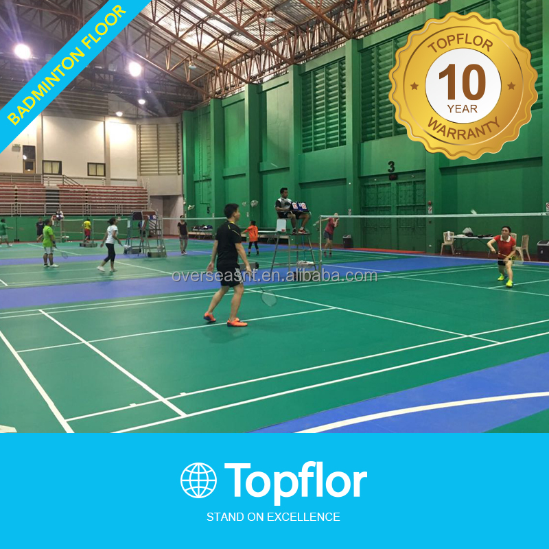 High Quality PVC Sports Flooring Badminton Court Flooring
