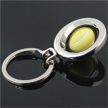 3D Sports Rotating Tennis Keychain Keyring Key Chain Ring Key Fob