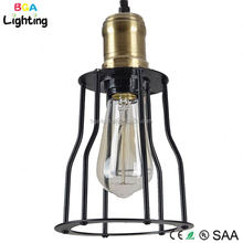 SAA Hot selling E27 socket Metal Iron pendant light bronze ,pendant light cage