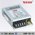 CE standard dc 15v 1.6a 20w power supply led driver 12v ac/dc smps