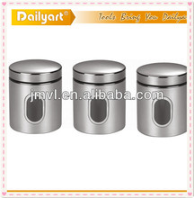2016 TEA SUGAR COFFEE STAINLESS STEEL GLASS CANISTER SETS