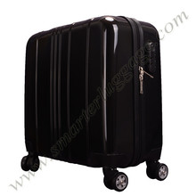 2016 Hard Shell ABS+PC Film Black Carry On Suitcase Luggage