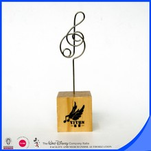 Cube 35x35mm wooden holder clef metal photo holder