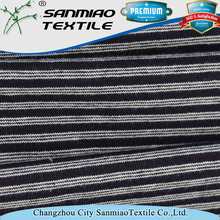 Hot sale striped single jersey knit denim fabric for shirts