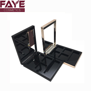 China supplier cosmetic plastic material magnetized five spaces make up eye shadow palette