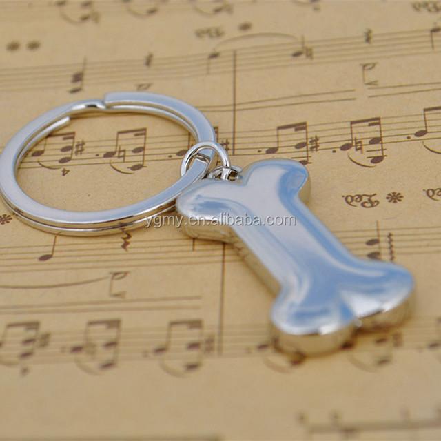 3D Fashion Metal Zinc Alloy Car Key Chain Charms Pendant Key Ring Dog Bone Keychain for Keys Bag Keyring Jewelry Accessories