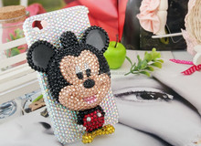 45 colors Wholesale Fashion 3D Mickey diamond cell phone case cute phone cover
