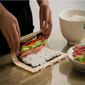 Natural sushi rolling mat making kit custom roller in bulk